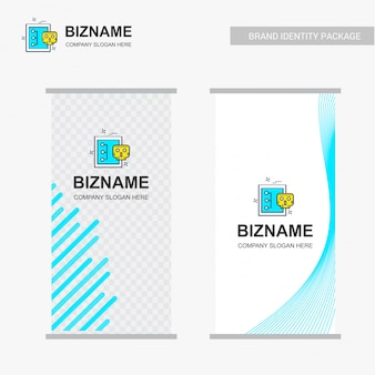 Company ads banner design with company logo vector