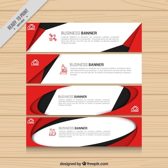 Company banners in modern style