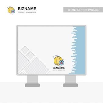 Company bill board design with bug logo vector