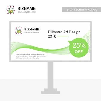 Company bill board design with creative design vector