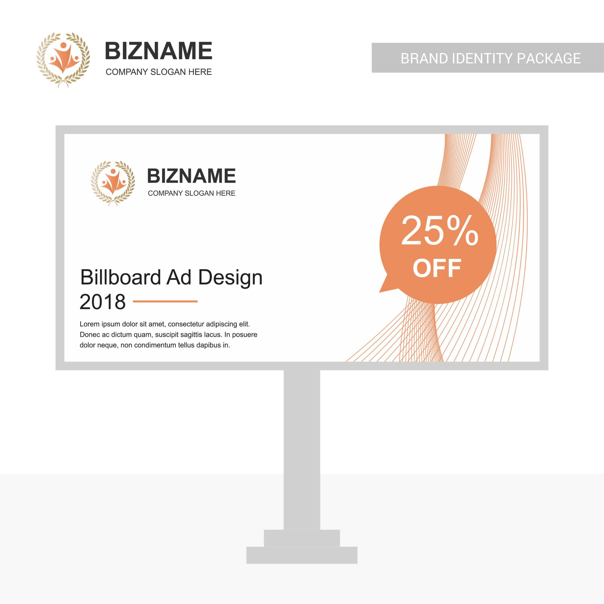 Company bill board design with creative design vector