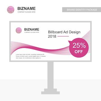 Company bill board with creative design
