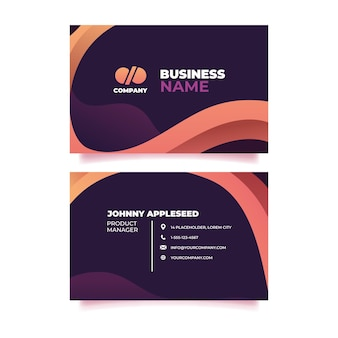 Company brandingbusiness card design template