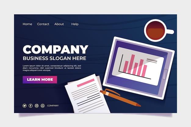Modello di progettazione della pagina di destinazione del marchio aziendale