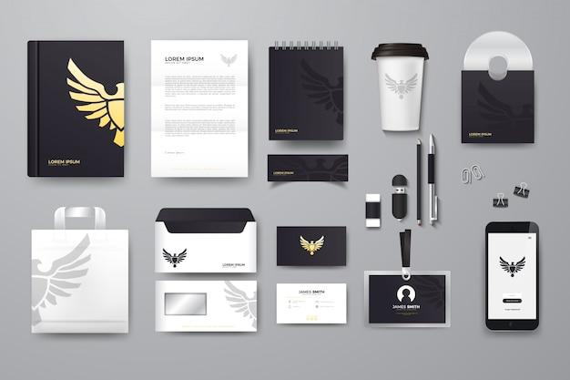 Компания брендинг макет