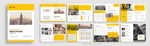 Company brochure multi page templae layout design