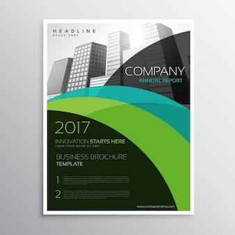 Brochure annuale relazione di presentazione del modello volantino volantino