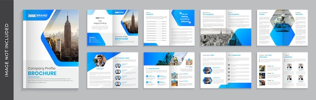 Company brochure template design, multi page brochure template