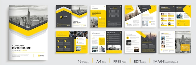 Company brochure template layout design