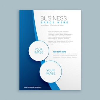 Company brochure with blue wave