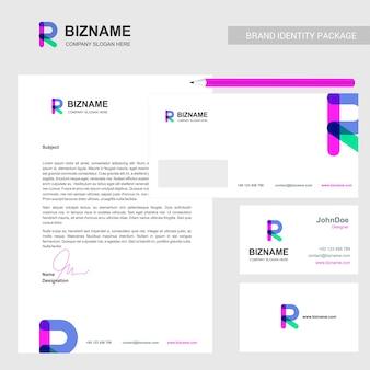 Company brochure with company logo and stylish design