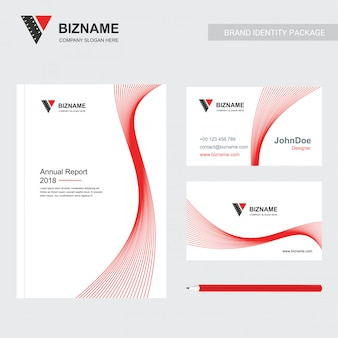 Company brochure with creative design vector