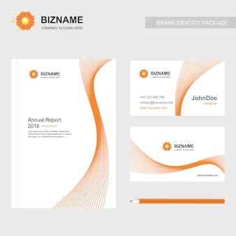 Company brochure with creative design