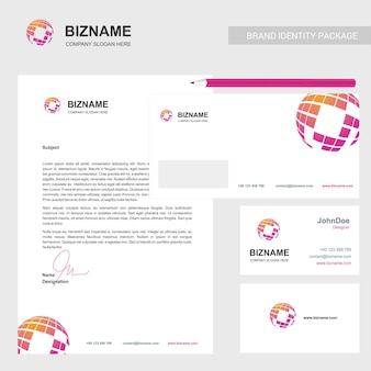 Company brochure with elegant design