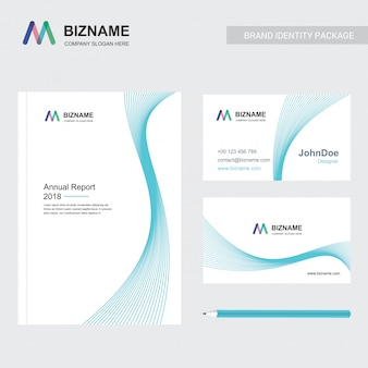 Company brochure with elegent design and also with m logo