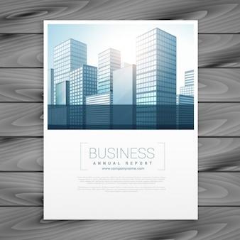 Brochure aziendale pulito modello di copertina volantino