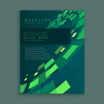 同社のビジネスパンフレットのページ抽象的なデザイン