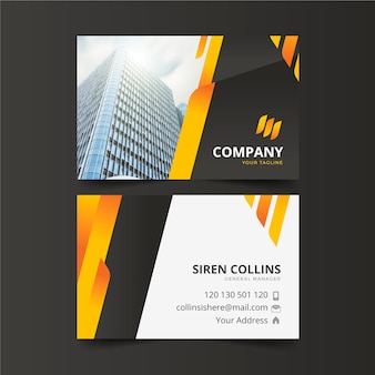 Company business card abstract design