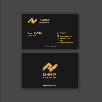Company business card design template