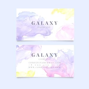 Company business card watercolor design