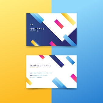 Company business card with abstract design