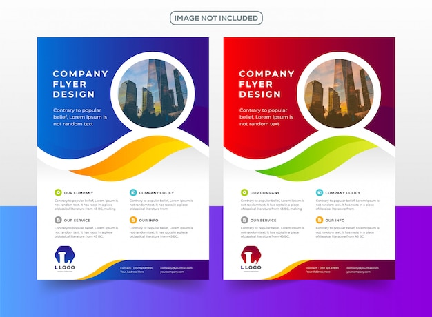 Company business flyer design template