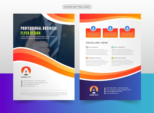 Company business flyer template design