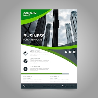 Company business report with photo