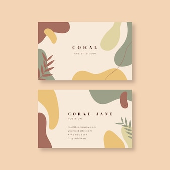 Company card template in abstract painted style