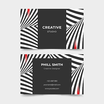 Company card template with distorted lines