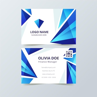 Company card with abstract shapes