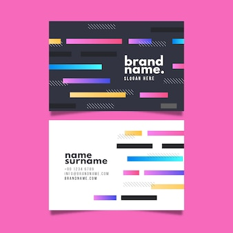 Company card with colorful lines