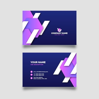 Company card with gradient shapes