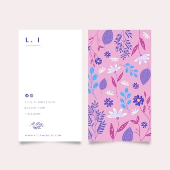 Company card with lovely flowers