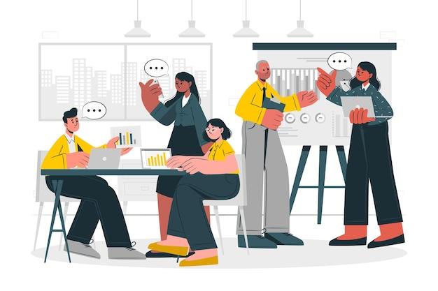Иллюстрация концепции компании