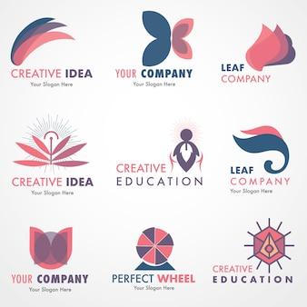 Company creative logo set