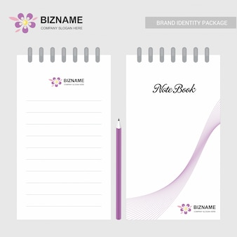Company design notepad with logo and stylish design
