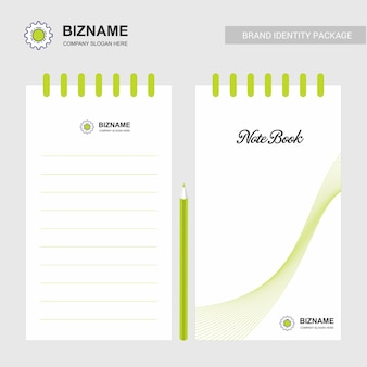 Company design notepad with logo vector