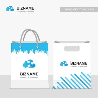 Company design shopping bags
