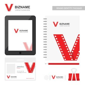 会社の日記デザインと赤のテーマベクトルのカード