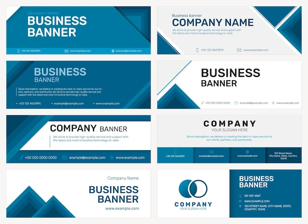 ビジネスセットの会社の電子メールヘッダーテンプレート