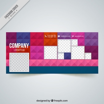 Company facebook cover in geometric style