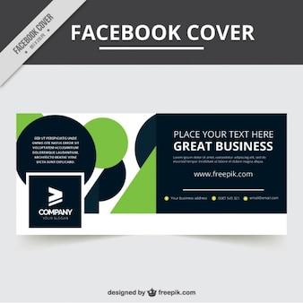 녹색 세부 정보가 포함 된 회사 페이스 북 커버