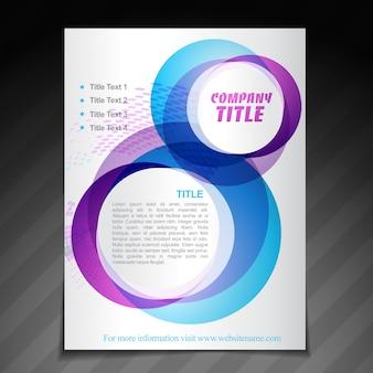 Modello di manifesto brochure flyer brochure aziendale