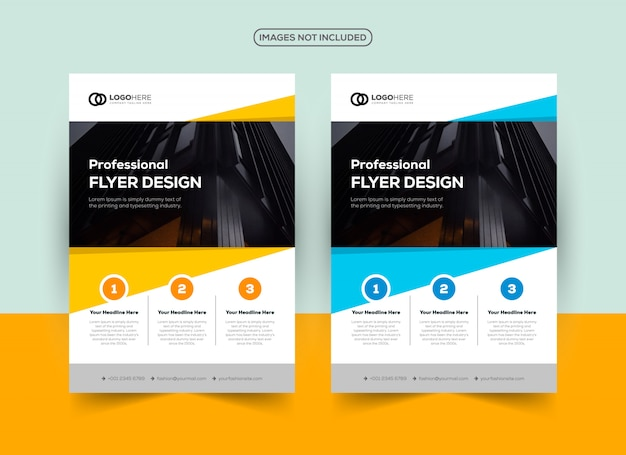 Company flyer design template