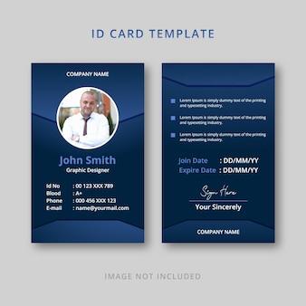 Company id card creative template