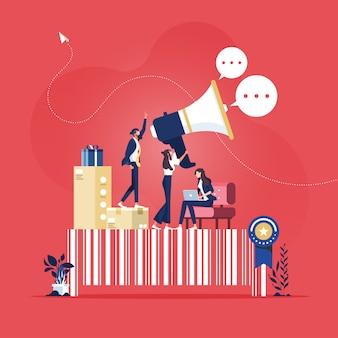 회사 정체성, 마케팅 및 홍보 캠페인-브랜드 인지도 구축 개념
