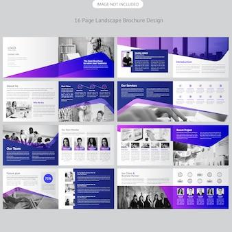 Company landscape brochure