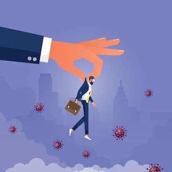 コロナウイルスのパンデミックが景気後退の概念を引き起こしたため、会社は従業員を解雇した