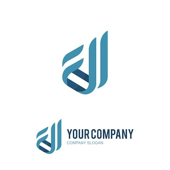 Company letter d and c logo design